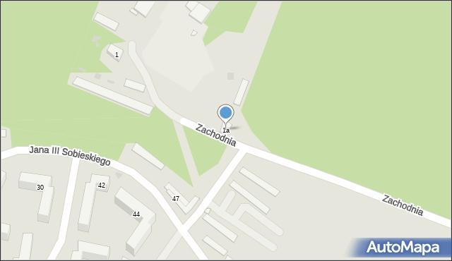Grudziądz, Zachodnia, 1a, mapa Grudziądza