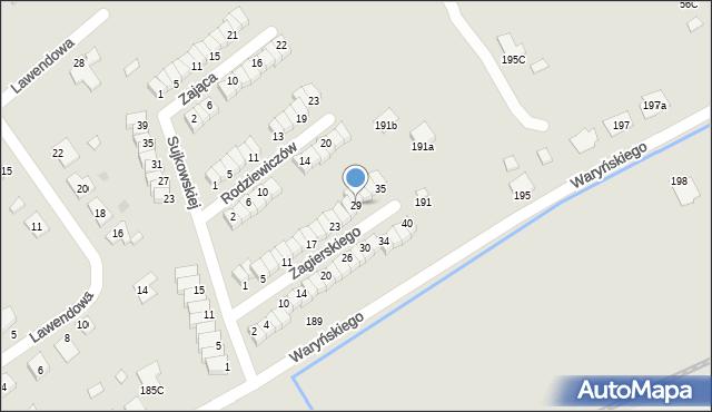 Grudziądz, Zagierskiego J., dr., 29, mapa Grudziądza