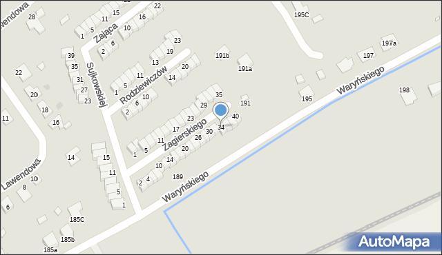 Grudziądz, Zagierskiego J., dr., 34, mapa Grudziądza
