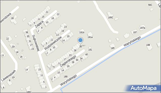 Grudziądz, Zagierskiego J., dr., 35, mapa Grudziądza