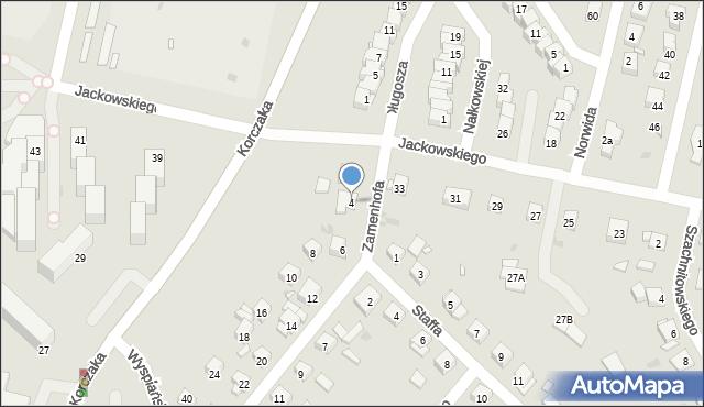 Grudziądz, Zamenhofa Ludwika, dr., 4, mapa Grudziądza