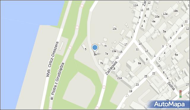 Grudziądz, Zamkowa, 5h, mapa Grudziądza