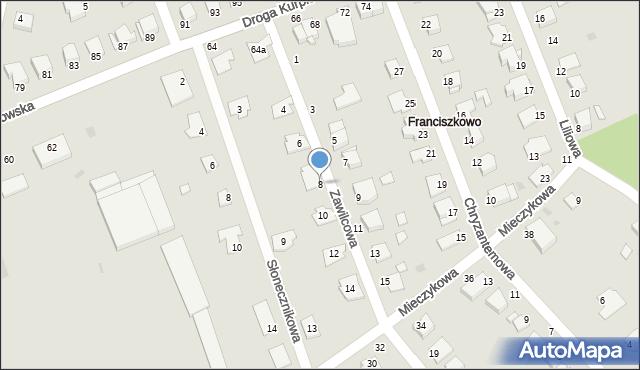 Grudziądz, Zawilcowa, 8, mapa Grudziądza