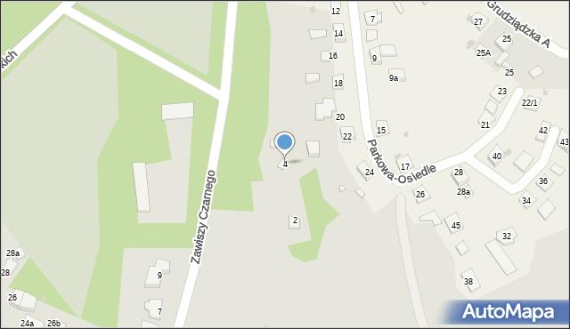 Grudziądz, Zawiszy Czarnego, 4, mapa Grudziądza