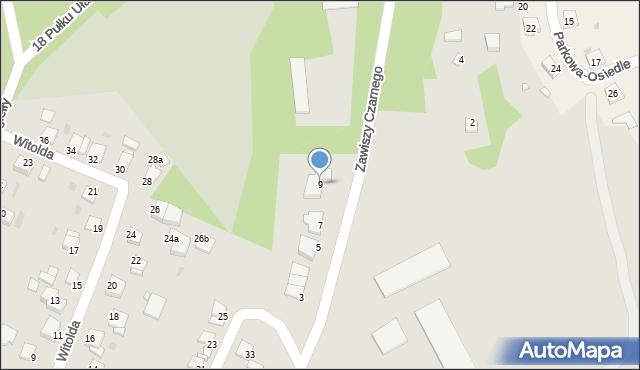 Grudziądz, Zawiszy Czarnego, 9, mapa Grudziądza