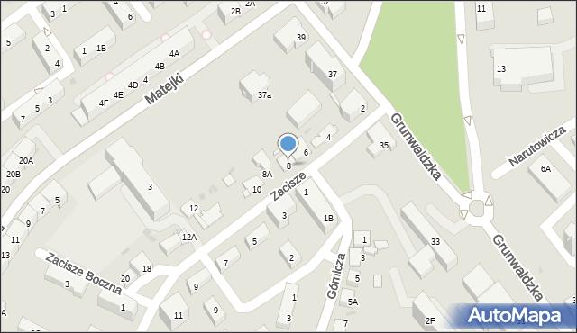 Jaworzno, Zacisze, 8, mapa Jaworzno