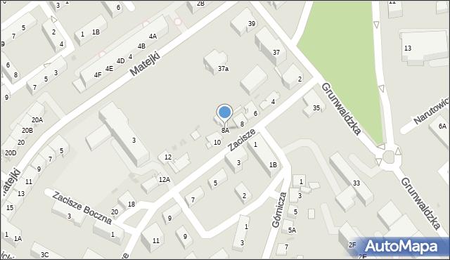 Jaworzno, Zacisze, 8A, mapa Jaworzno