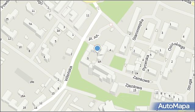 Kętrzyn, Zamkowa, 5, mapa Kętrzyn