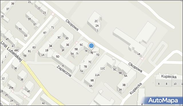 Kołobrzeg, Zapleczna, 7E, mapa Kołobrzegu