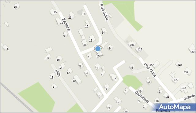 Limanowa, Zacisze, 10, mapa Limanowa