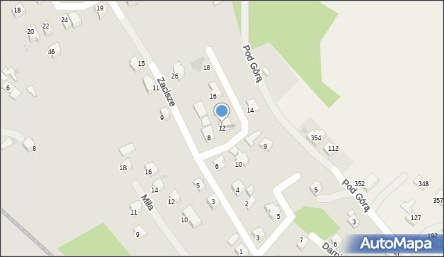 Limanowa, Zacisze, 12, mapa Limanowa