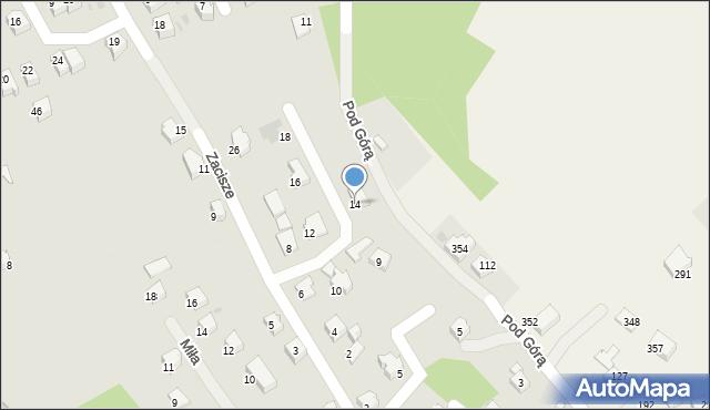 Limanowa, Zacisze, 14, mapa Limanowa