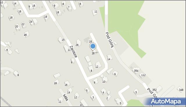 Limanowa, Zacisze, 16, mapa Limanowa