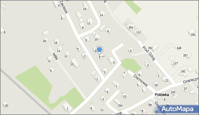 Limanowa, Zacisze, 2, mapa Limanowa
