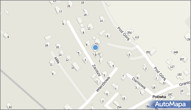 Limanowa, Zacisze, 4, mapa Limanowa