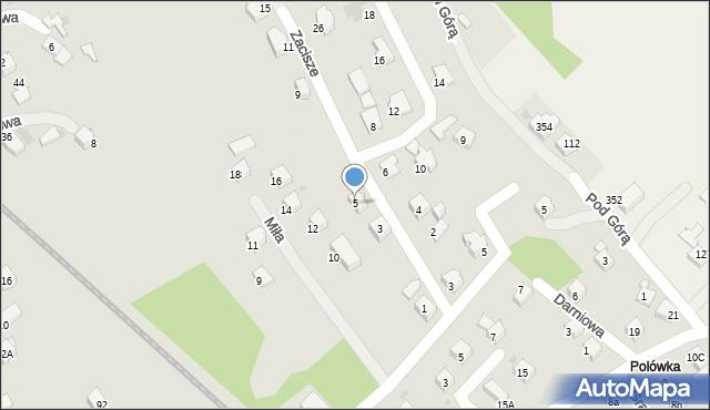 Limanowa, Zacisze, 5, mapa Limanowa