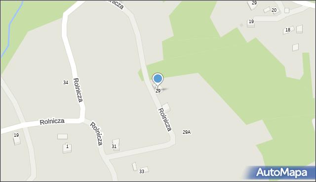 Limanowa, Zarębki, 29, mapa Limanowa