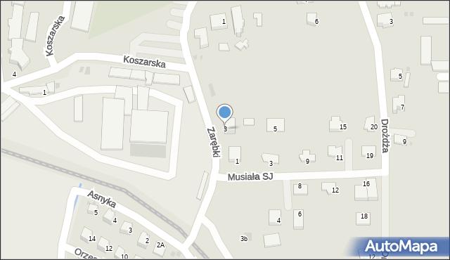 Limanowa, Zarębki, 3, mapa Limanowa