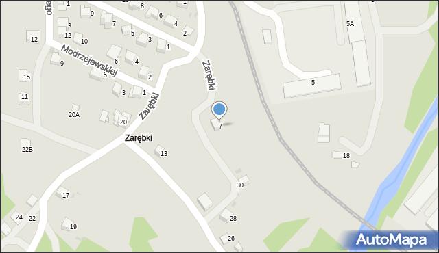 Limanowa, Zarębki, 7, mapa Limanowa