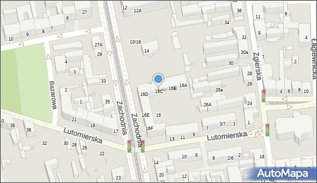 Łódź, Zachodnia, 16C, mapa Łodzi