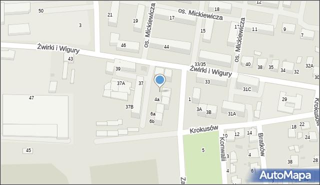 Mikołów, Zawilców, 98, mapa Mikołów