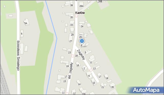 Nysa, Zagłoby Jana Onufrego, 3, mapa Nysy