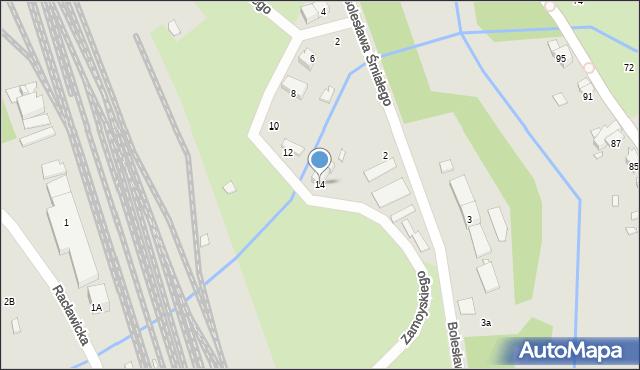 Nysa, Zamoyskiego Jana, hetm., 14, mapa Nysy