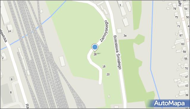 Nysa, Zamoyskiego Jana, hetm., 18, mapa Nysy