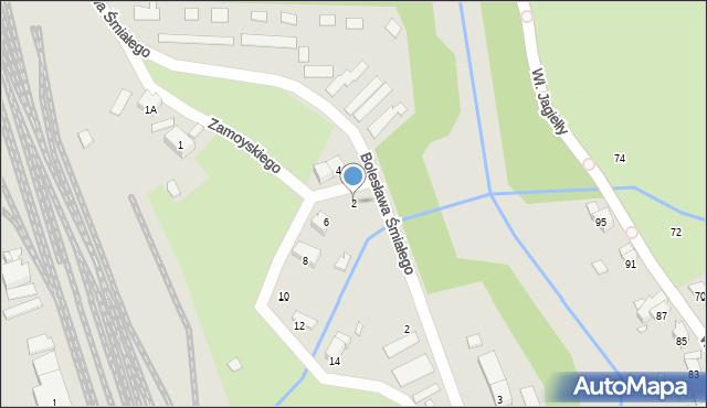 Nysa, Zamoyskiego Jana, hetm., 2, mapa Nysy