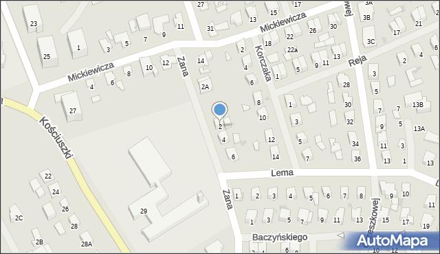 Olecko, Zana Tomasza, 2, mapa Olecko