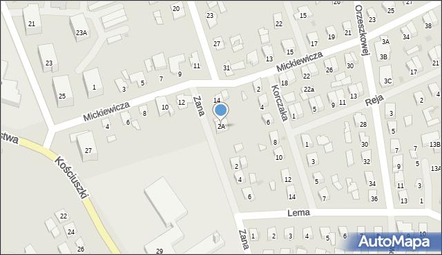 Olecko, Zana Tomasza, 2A, mapa Olecko