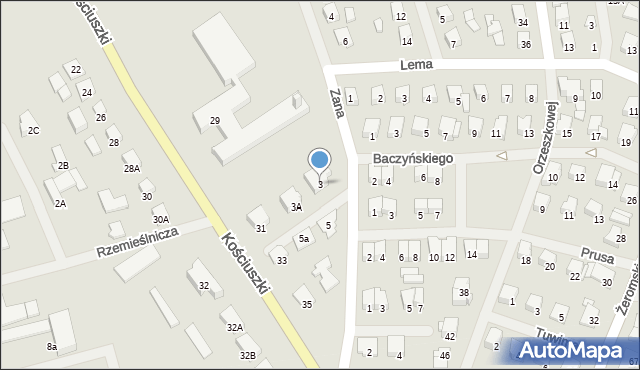 Olecko, Zana Tomasza, 3, mapa Olecko
