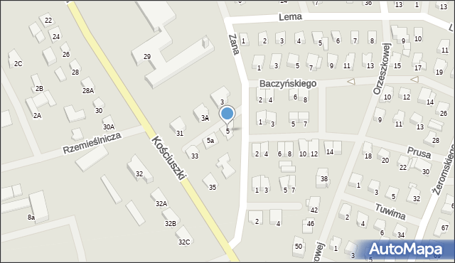 Olecko, Zana Tomasza, 5, mapa Olecko