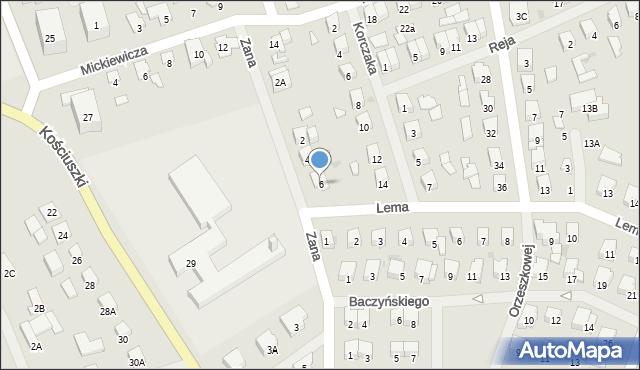 Olecko, Zana Tomasza, 6, mapa Olecko