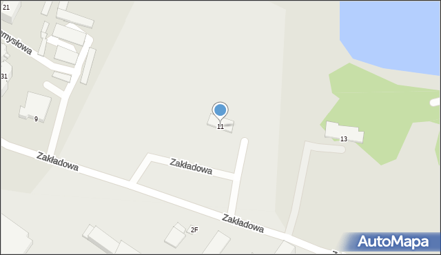 Poręba, Zakładowa, 11, mapa Poręba
