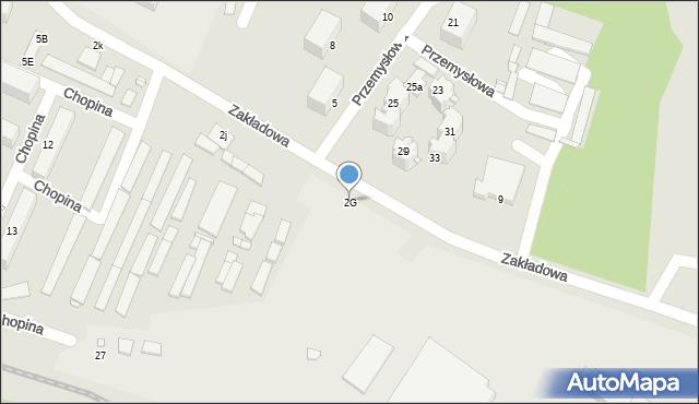Poręba, Zakładowa, 2G, mapa Poręba