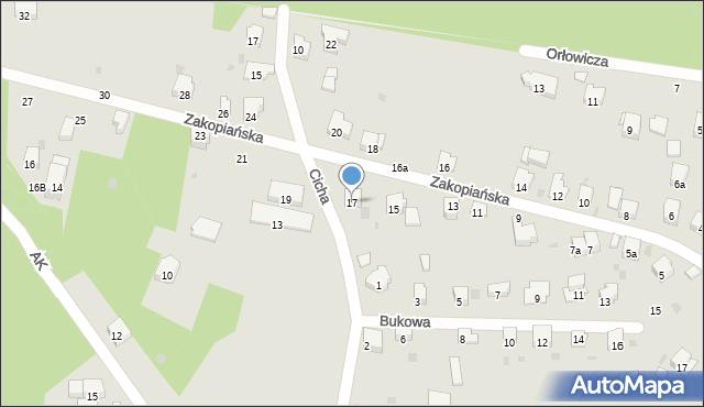 Przemyśl, Zakopiańska, 17, mapa Przemyśla