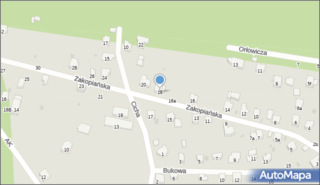 Przemyśl, Zakopiańska, 18, mapa Przemyśla