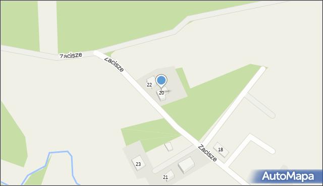 Robakowo, Zacisze, 20, mapa Robakowo