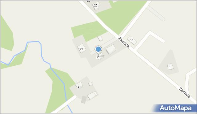 Robakowo, Zacisze, 21, mapa Robakowo