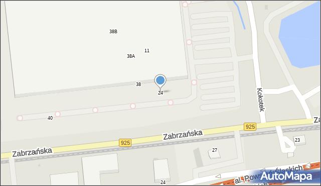 Ruda Śląska, Zabrzańska, 24, mapa Rudy Śląskiej