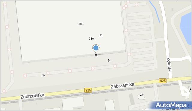 Ruda Śląska, Zabrzańska, 38, mapa Rudy Śląskiej