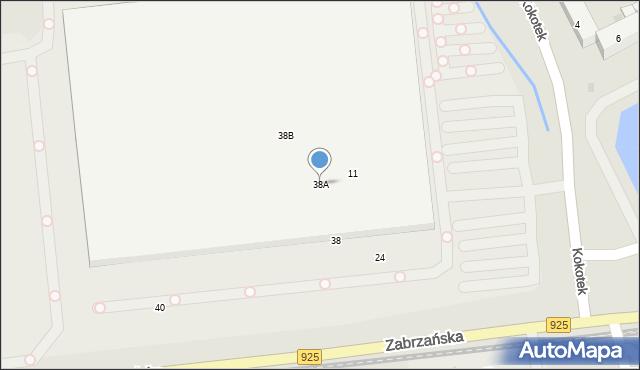 Ruda Śląska, Zabrzańska, 38A, mapa Rudy Śląskiej