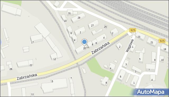 Ruda Śląska, Zabrzańska, 10, mapa Rudy Śląskiej