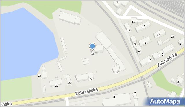 Ruda Śląska, Zabrzańska, 17, mapa Rudy Śląskiej
