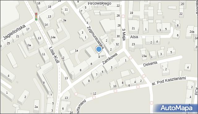 Rzeszów, Zamkowa, 4, mapa Rzeszów