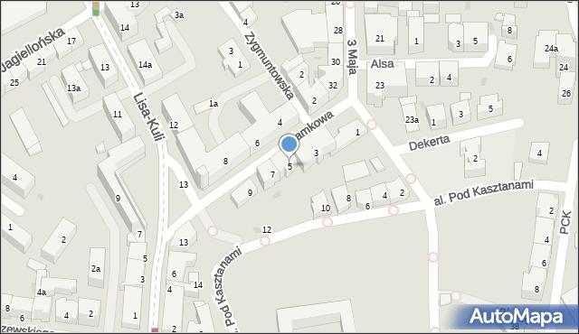 Rzeszów, Zamkowa, 5, mapa Rzeszów