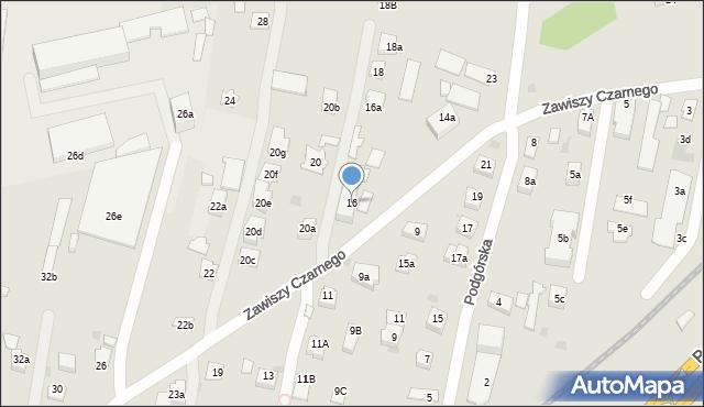 Rzeszów, Zawiszy Czarnego, 16, mapa Rzeszów