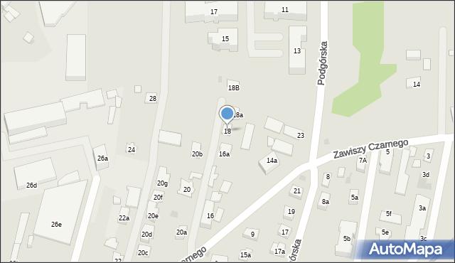 Rzeszów, Zawiszy Czarnego, 18, mapa Rzeszów