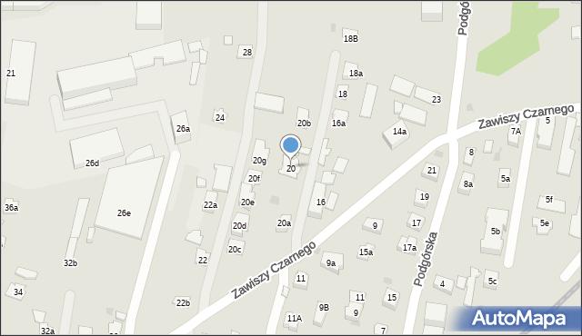 Rzeszów, Zawiszy Czarnego, 20, mapa Rzeszów